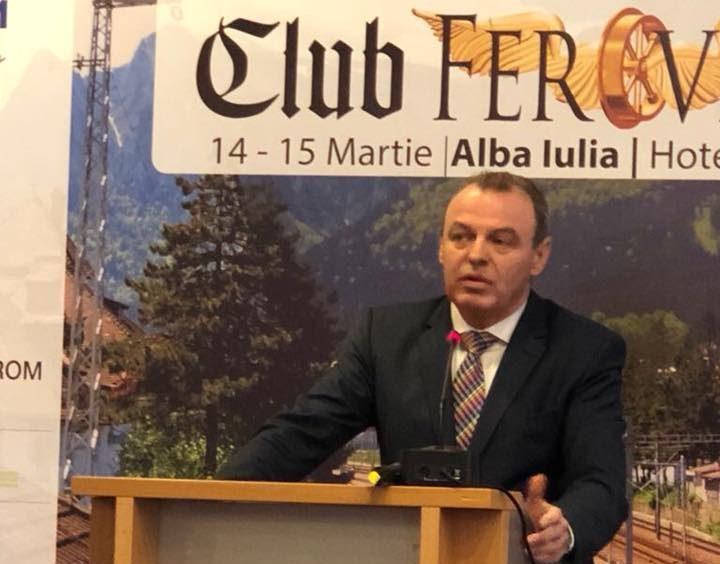 Ministrul Transporturilor, Lucian Șova,a participat la Conferințele Club Feroviar de la Alba Iulia