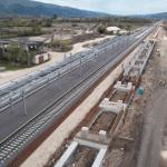 VIDEO. Cum arată din dronă lucrările la Coridorul feroviar din vestul țării